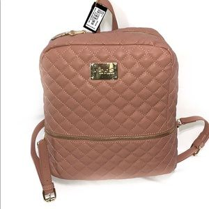 Bebe Taupe Quilted Backpack NWT